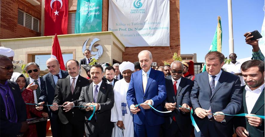 BAKAN KURTULMUŞ, SUDAN'DA TÜRK KÜLTÜR MERKEZİ AÇTI