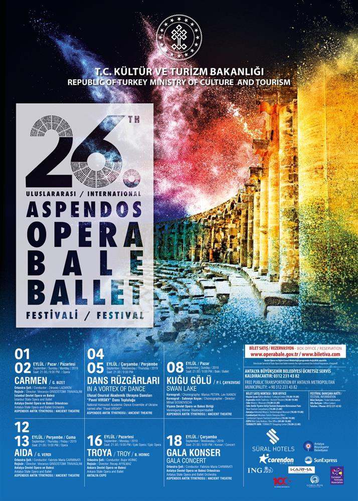 26th INTERNATIONAL ASPENDOS OPERA AND BALLET FESTIVAL TO